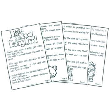 Red Riding Hood Fairy Tale Activity Pack by Tech Teacher