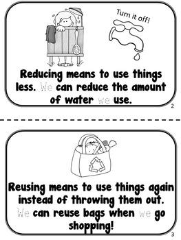 Reduce, Reuse, Recycle! Sight Word Book {FREEBIE} by Karen