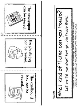 Reduce, Reuse and Recycle 3 response pages to identify
