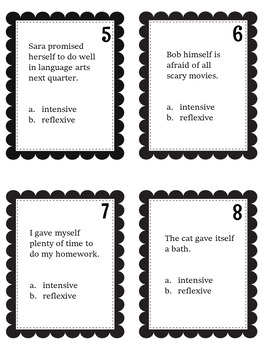 Reflexive and Intensive Pronoun Task Cards and Quiz by