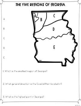 Regions of Georgia Differentiated Reading Passages