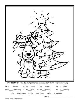 Reindeer Math Packet for Kindergarten and First Grade by