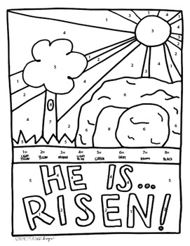 Religious Easter Coloring Page By Namely Original Designs Tpt
