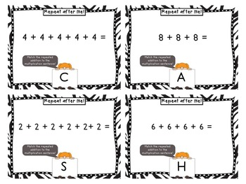 Repeat after Me! Task Cards for Multiplication as Repeated