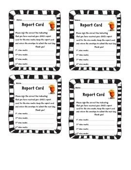Report Card Envelope Labels Dr. Seuss Lorax by Organized
