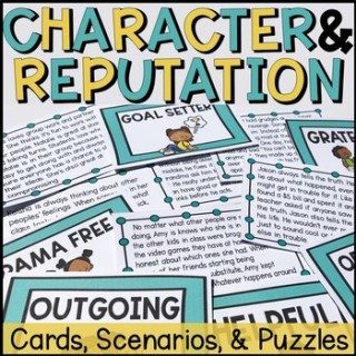 Tpt link for lesson plan for What's the Reputation? Character? Value?