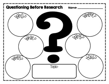 Research Graphic Organizers by Crocker's Creations