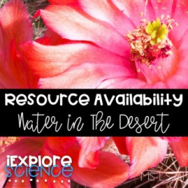 Resource Availability: Exploring Water Resources In The Desert (NGSS MS-LS2-1)
