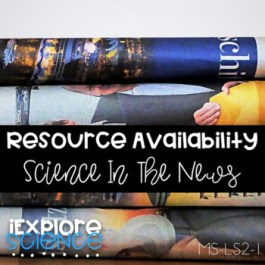 Resource Availability: Using Scientific Texts (NGSS MS-LS2-1)