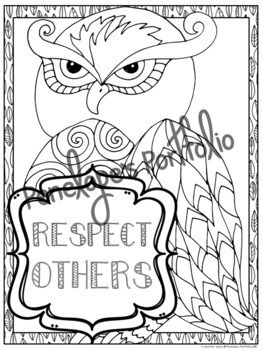 Respect Activity: Respect Letter & Respect Coloring Pages