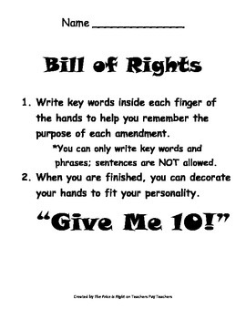 Bill of Rights and Amendments Review for Georgia