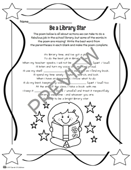 {FREE!} Reviewing Proper Library Behavior Printable