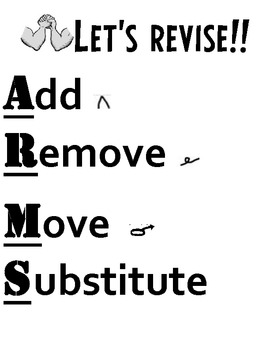 Revise and Edit Overhead Transparencies/Printables/Anchor