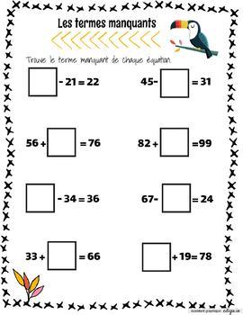 Révision en mathématique 2e année by Enseigner et
