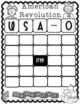 American Revolution: BINGO Game by Elementary Lesson Plans