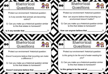 NEW: Rhetorical Question Chatter Cards by Interactive
