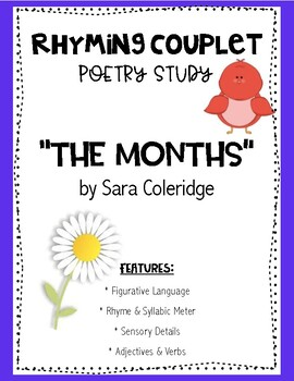 "Rhyming Couplet Poetry Study Lesson ""The Months"