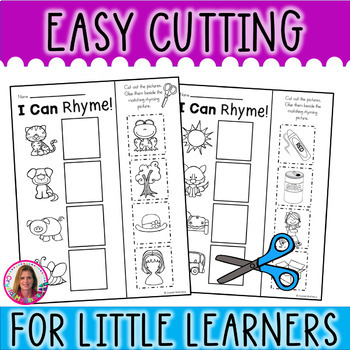 Rhyming Words for Young Learners (10 Cut & Paste Rhyming