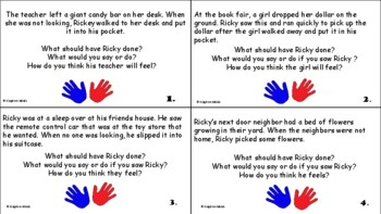 Ricky Sticky Fingers Social Skill Activities about