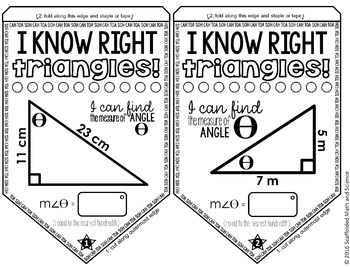 Right Triangle Trigonometry Pennant by Scaffolded Math and