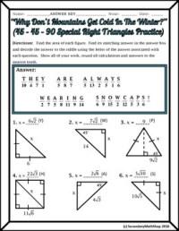 Pictures 45 45 90 Triangle Worksheet - Toribeedesign
