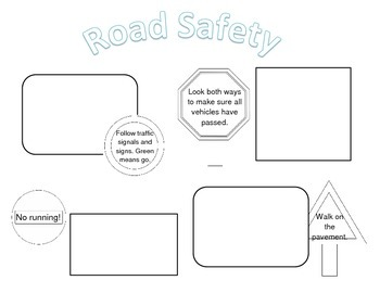 Road Safety Poster template (differentiated) by Nadia