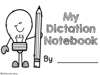 Road To Reading: Dictation Notebook by Tales of a Reading