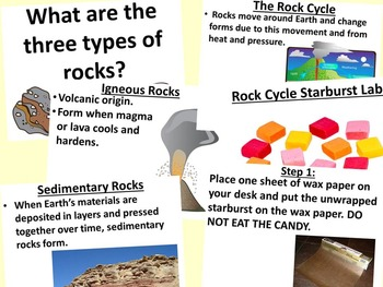 Rock Cycle Starburst Lab By Science Station TpT
