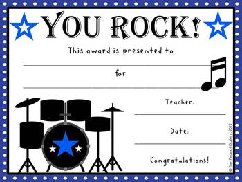 Rock Star Award Certificate Template Image Collections