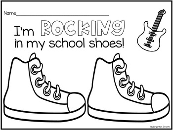 Rocking in My School Shoes Coloring Page by Kindergarten