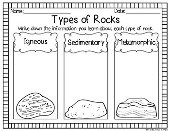 Rocks and Minerals: Craftivity and Printables by Terrific