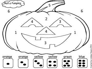 Roll A Pumpkin: Halloween Math Fun for Kindergarten by