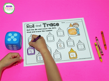 Roll and Color Math Games for the Year by The Kindergarten