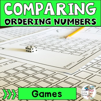 Roll of the Dice Comparing and Ordering Numbers Game 3-12