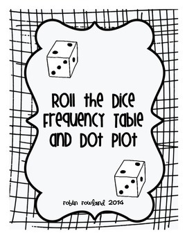 Roll the Dice Frequency Table and Dot Plot by Math