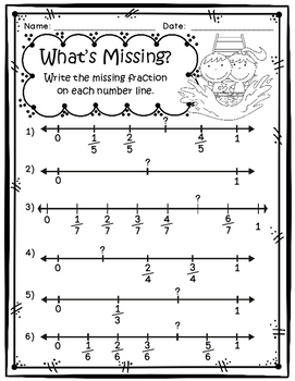 Fractions on a Number Line Game, Worksheets, Craftivity by