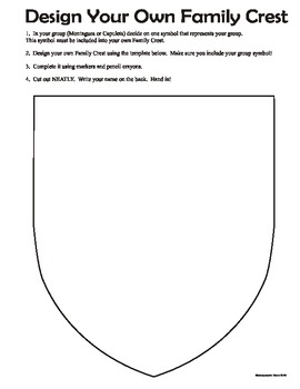 family crest worksheets teaching