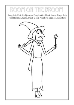 Room on the Broom Witch Vocabulary Match Printable by Fun