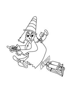 Room on the Broom Word Search and Color by Steven's Social