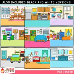 Rooms Of The House Clipart Worksheets & Teaching Resources TpT