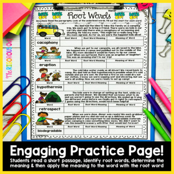 Root Words Week Long Lessons Common Core Aligned by The