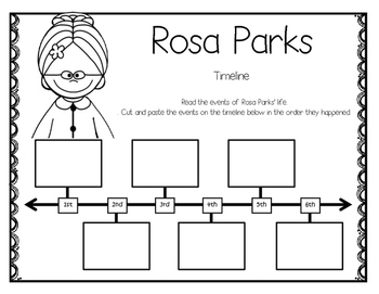 Rosa Parks: A Biography Pack by The Creative Coach-April