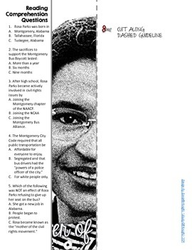 WOMEN'S HISTORY MONTH, ROSA PARKS BIOGRAPHY, WRITING