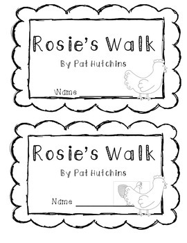 Rosie's Walk Response Activity: Preposition Booklet by