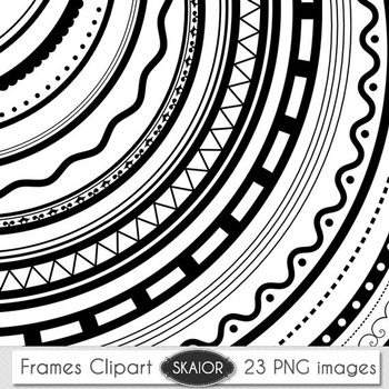 Round Frames Clip Art Borders Clipart Photo Frame