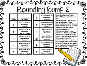 Rounding Bump-Two Games for Rounding Numbers through