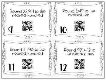 Rounding Task Cards with Self Checking QR Codes by Katie