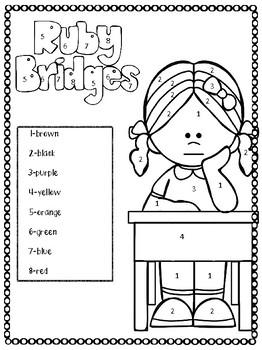 Ruby Bridges Diversity Coloring page-Celebrating Black
