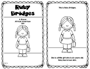Ruby Bridges Reader {Black History} First Grade and