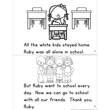 Ruby Bridges Black History Simple Reading Activity for